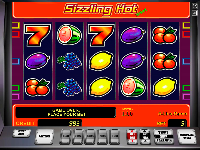 Sizzling Slots Online